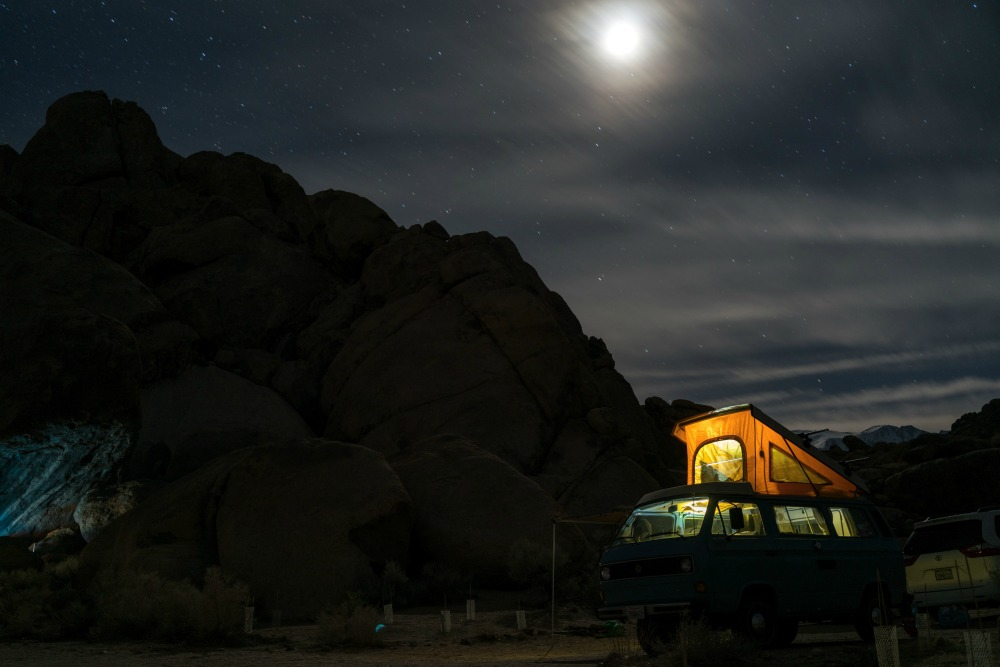 Van life night CREDIT Photo by Tommy Lisbin on Unsplash_picmonkeyed