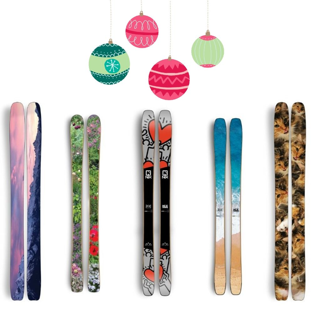 Gifts for skiers Nix bespoke skis CREDIT Nix Snowsport Co