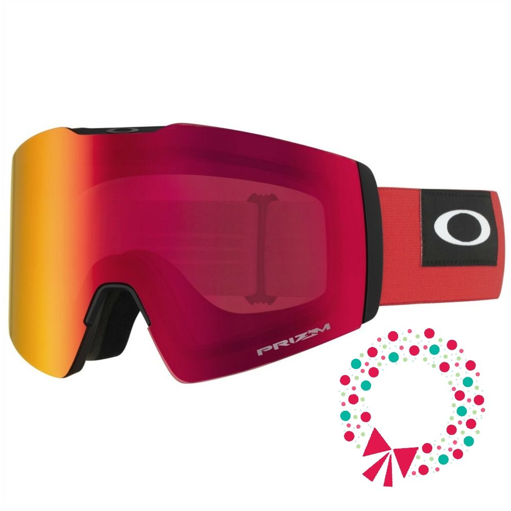 Gifts for skiers Oakley Blockedout Red Prizm™ Snow Torch Iridium CREDIT Oakley