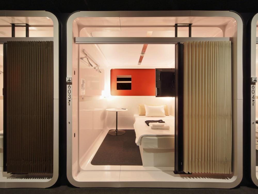 Trip to Tokyo sushi capsule hotel CREDIT First Cabin Shinbashi Atagoyama