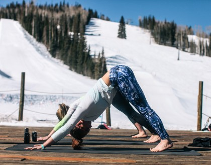 On mountain Yoga